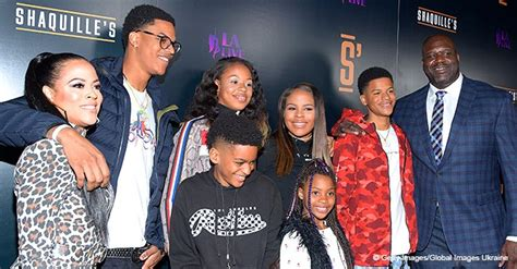 Shaquille O'Neal Poses with Ex-Wife Shaunie & Their Kids