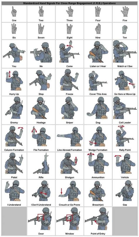 What are the basic infantry hand signals? - Quora