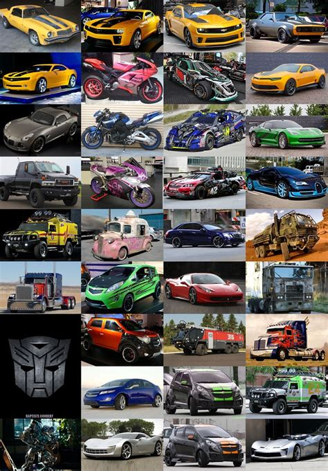 Transformers Movies All Autobots Vehicles Cars Bumblebee J